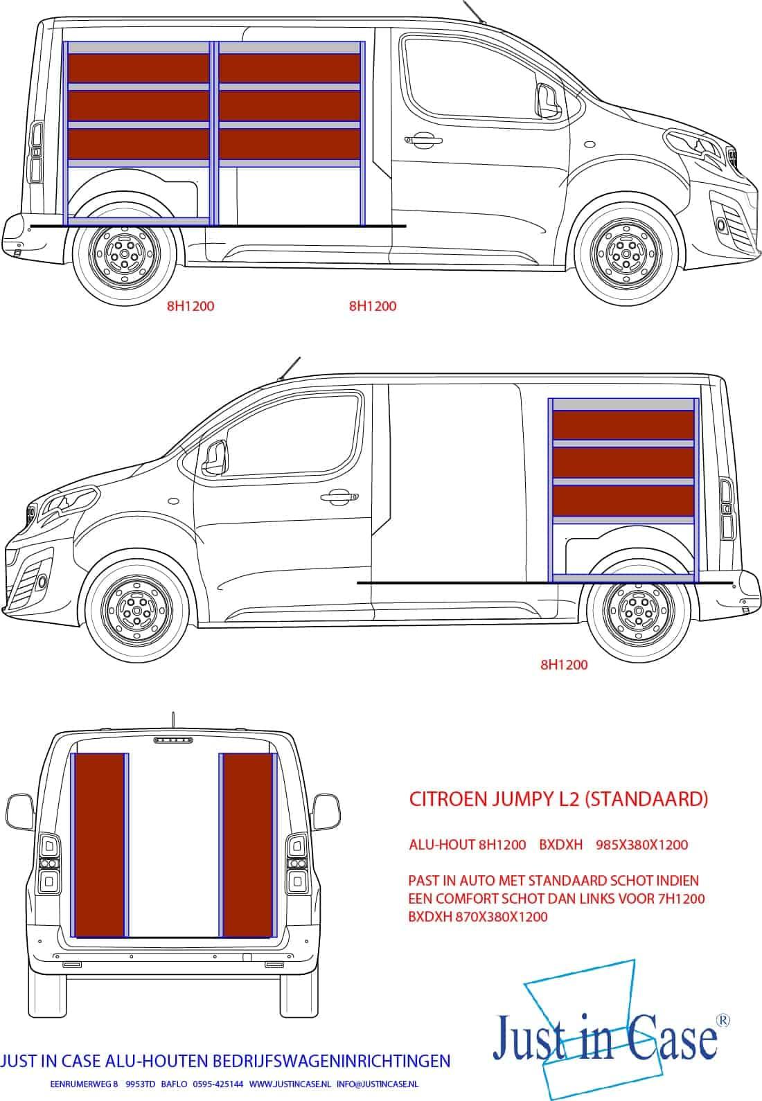 Citroën Jumpy stellingkasten