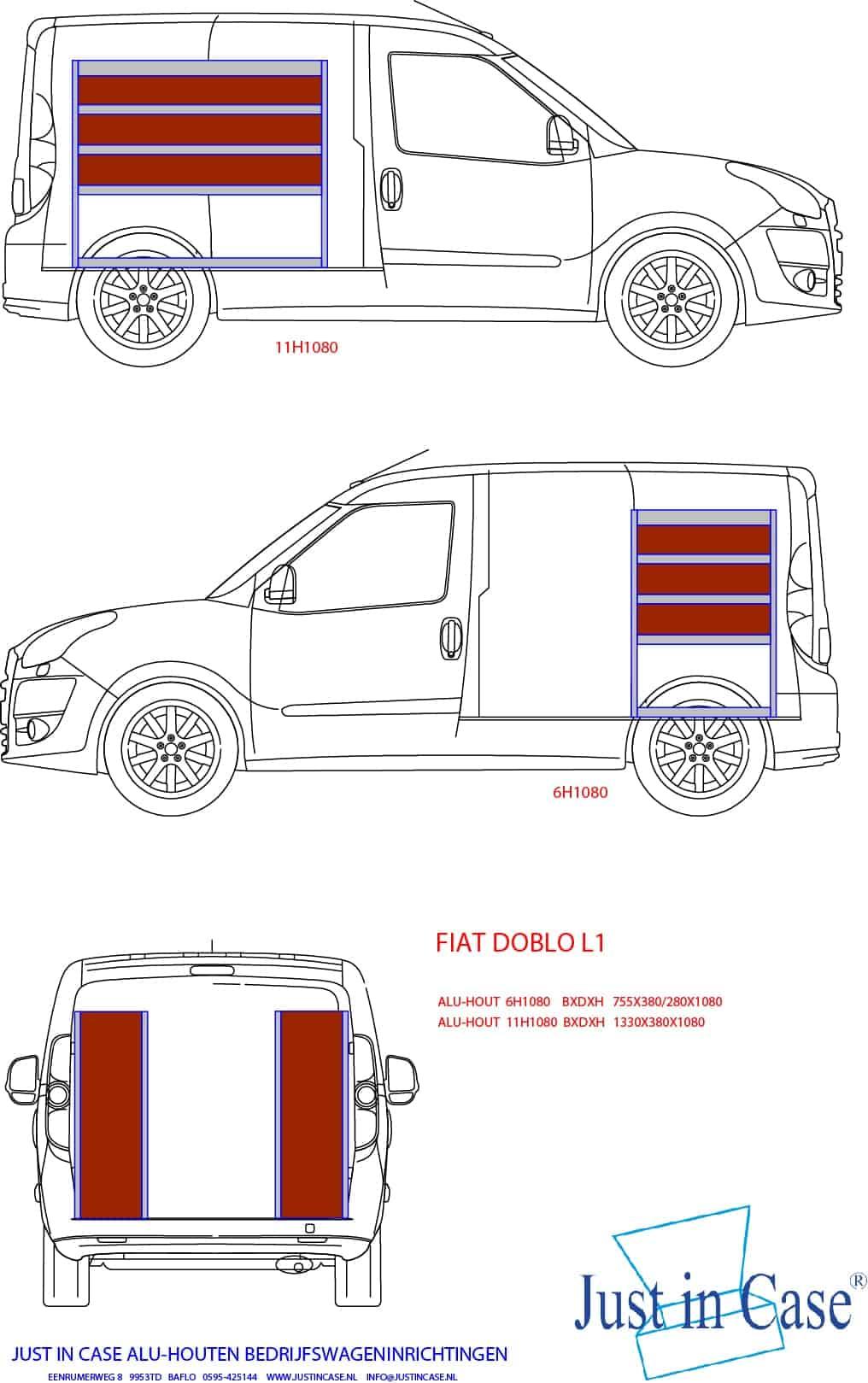 Fiat Doblo bedrijfwageninrichting