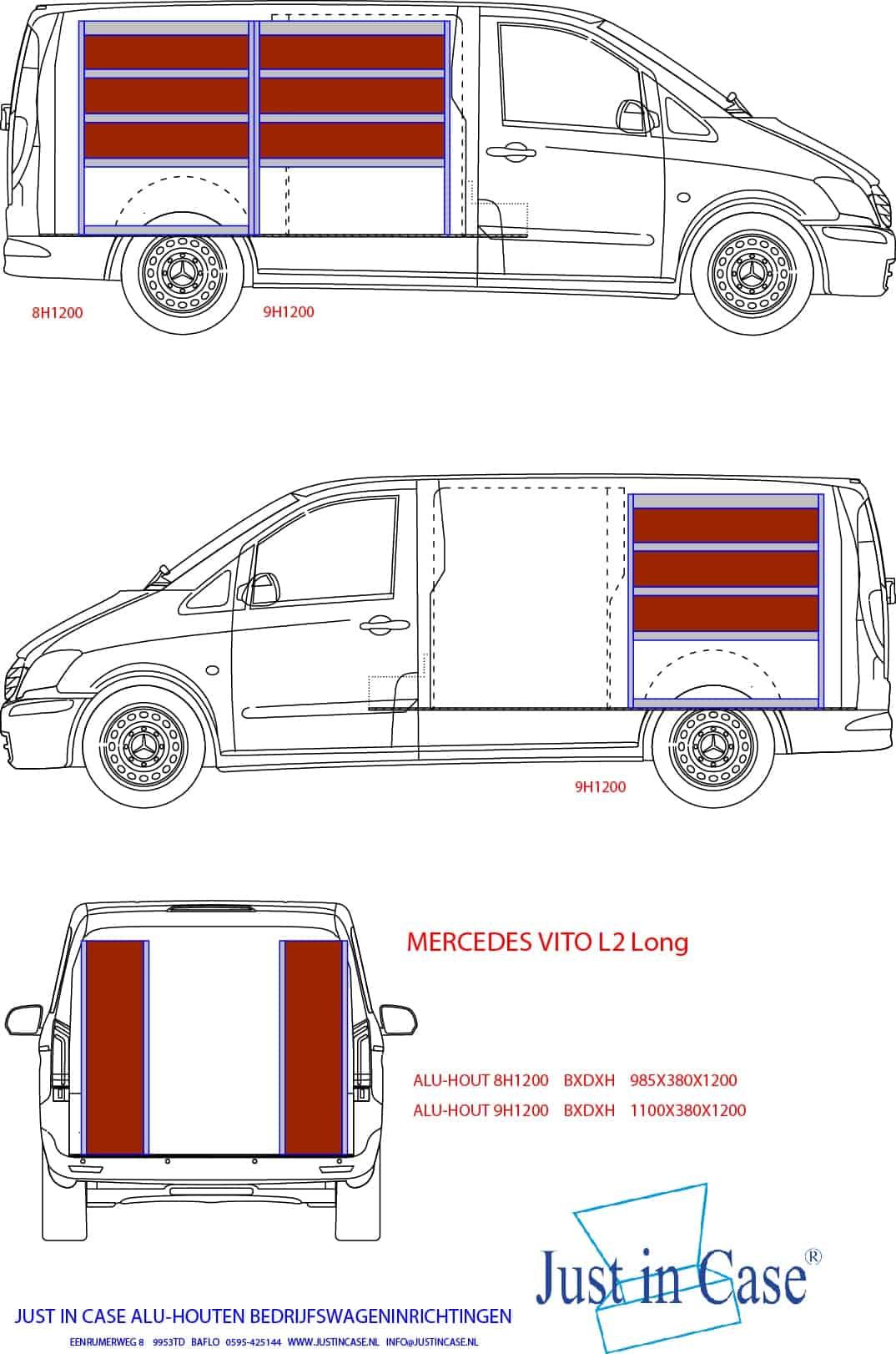Mercedes Vito (L2) bedrijfswageninirchting