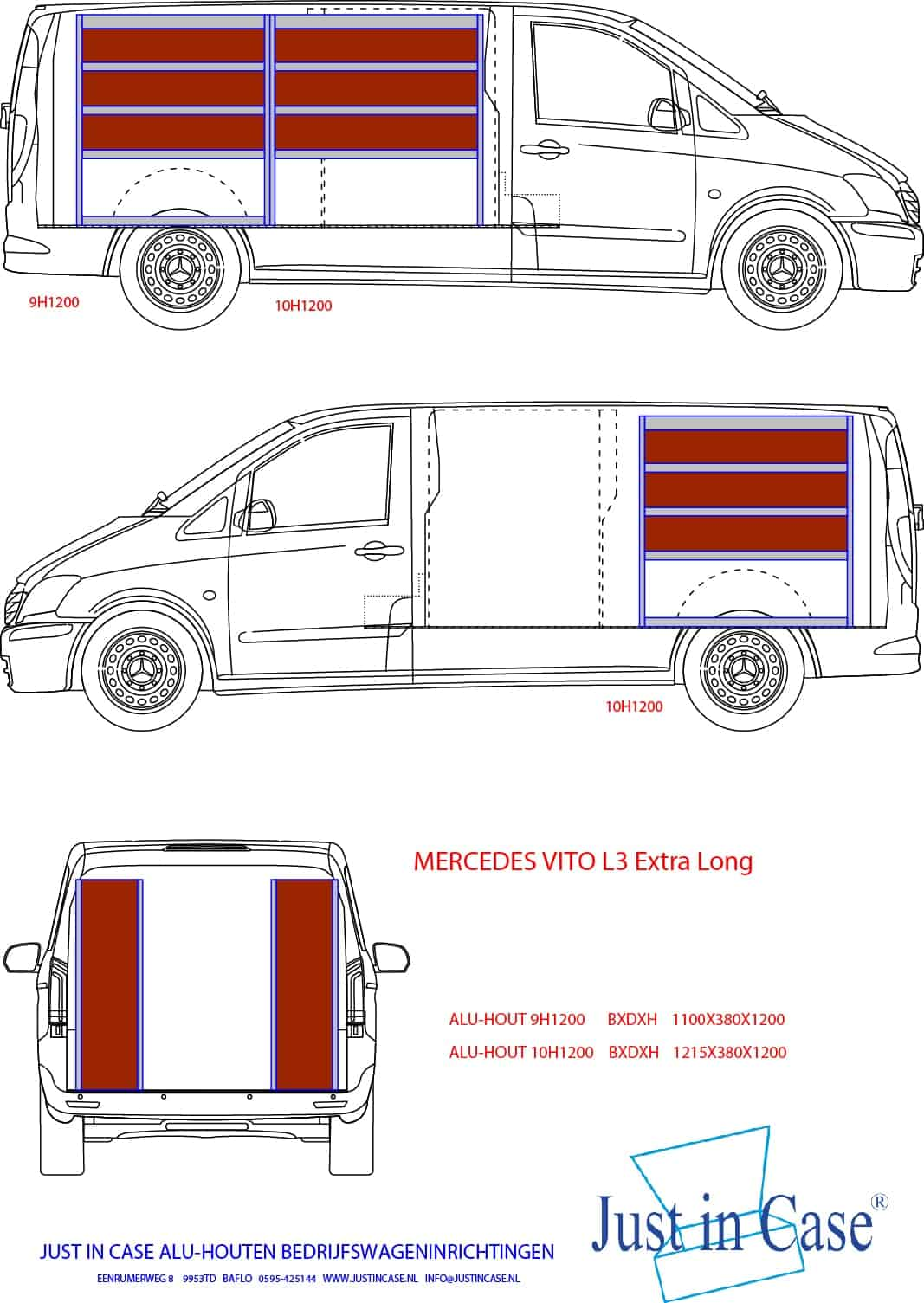 Mercedes Vito (L3) bedrijfswageninirchting