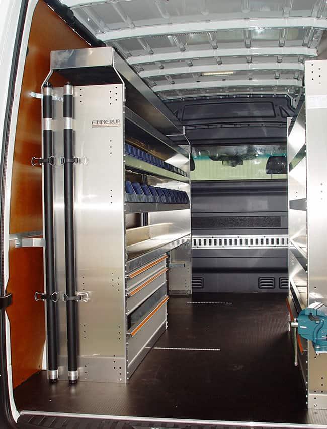 Aluminium bindrails met spanstangsysteem